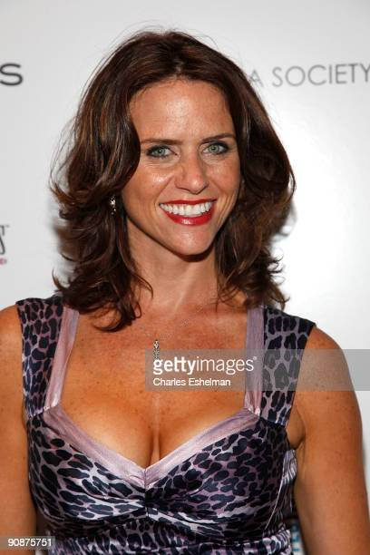 Actress Amy Landecker attends The Cinema Society and Links of London's screening of 'The Invention Of Lying' at the Tribeca Grand Screening Room on...