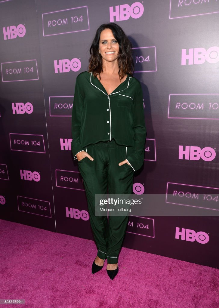 Actress Amy Landecker attends the Los Angeles premiere for HBO's 'Room 104' at Hollywood Forever on July 27, 2017 in Hollywood, California.