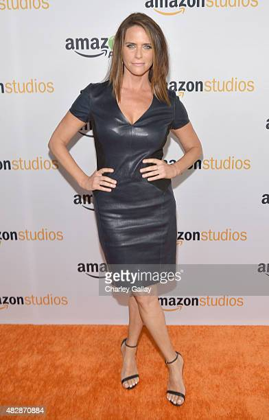 Actress Amy Landecker attends the 'Transparent' panel discussion at the Amazon Studios portion of the 2015 Summer TCA Tour on August 3 2015 in...