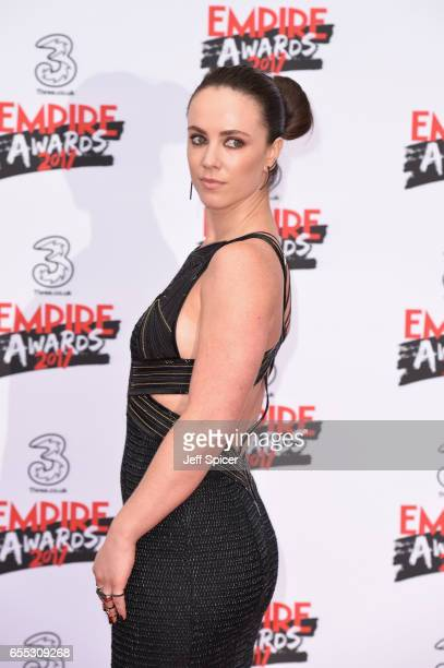 Actress Amy Manson attends the THREE Empire awards at The Roundhouse on March 19 2017 in London England