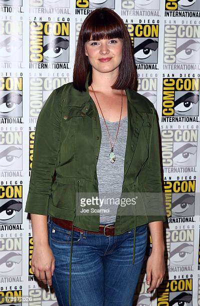 Actress Amy Newbold attends 'Divergent' ComicCon Press Line at San Diego Convention Center on July 18 2013 in San Diego California
