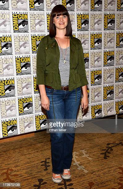 Actress Amy Newbold attends the 'Ender's Game' and 'Divergent' press line during ComicCon International 2013 at the Hilton San Diego Bayfront Hotel...