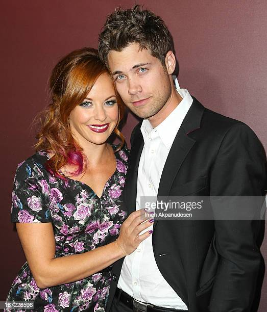 Actress Amy Paffrath and actor Drew Seeley attend The Hollywood Reporter's 'Next Gen' 20th Anniversary Gala at Hammer Museum on November 6 2013 in...