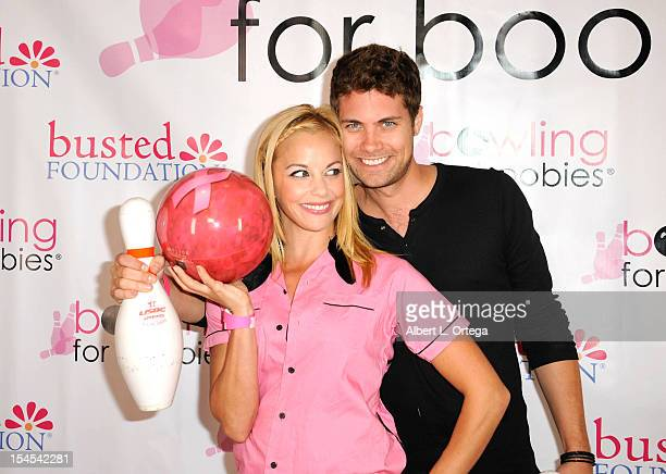 Actress Amy Paffrath and actor Drew Seeley participate in Busted Foundation's 'Bowling For Boobies' 9th Annual Breast Cancer Fundraiser Charity Event...