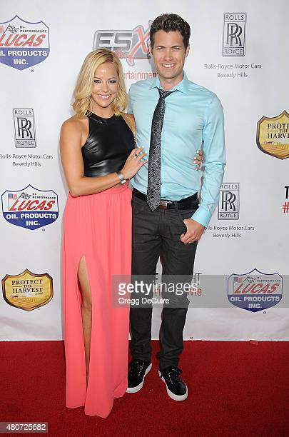 Actress Amy Paffrath and husband Drew Seeley arrive at the premiere of ESX Productions' 'The Wrong Side Of Right' at TCL Chinese Theatre on July 14...