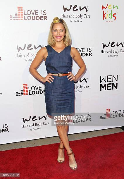 Actress Amy Paffrath attends Chaz Dean's summer party benefiting Love Is Louder on August 1 2015 in Los Angeles California