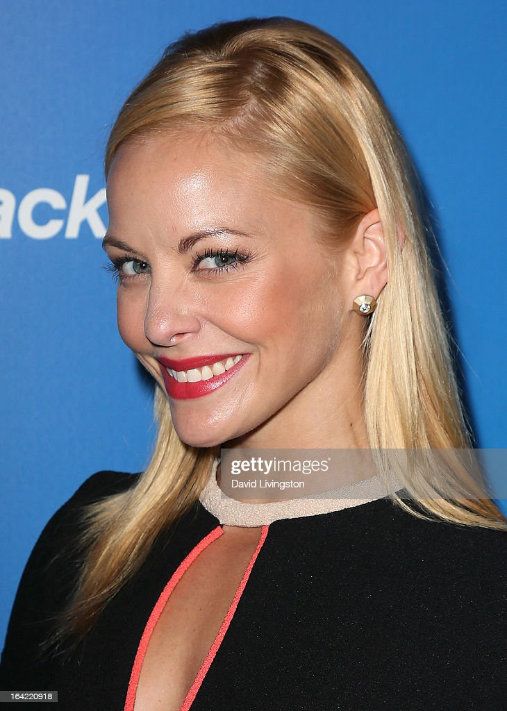 Actress Amy Paffrath attends the BlackBerry Z10 Smartphone launch party at Cecconi's Restaurant on March 20, 2013 in Los Angeles, California.