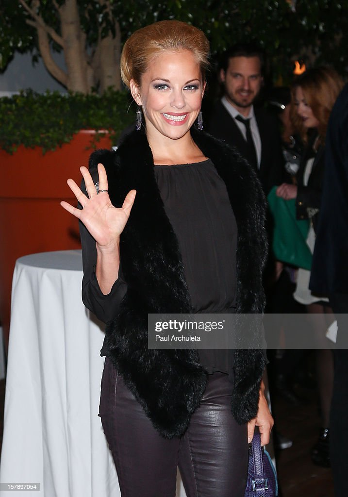 Actress Amy Paffrath attends the Cell Phones For Soldiers charity event sponsored by Voli Light Vodka at Sky Bar in the Mondrian Hotel on December 6, 2012 in West Hollywood, California.