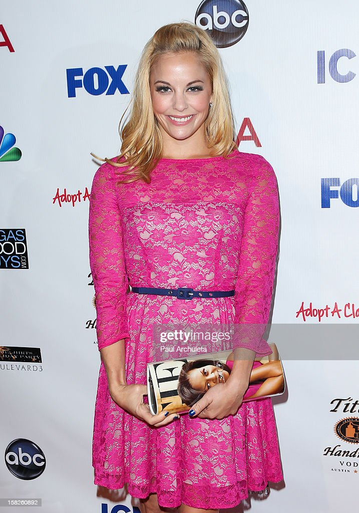 Actress <a gi-track='captionPersonalityLinkClicked' href=/galleries/search?phrase=Amy+Paffrath&family=editorial&specificpeople=2270596 ng-click='$event.stopPropagation()'>Amy Paffrath</a> attends the Junior Hollywood Radio & Television Society's 10th annual holiday party at Boulevard3 on December 11, 2012 in Hollywood, California.