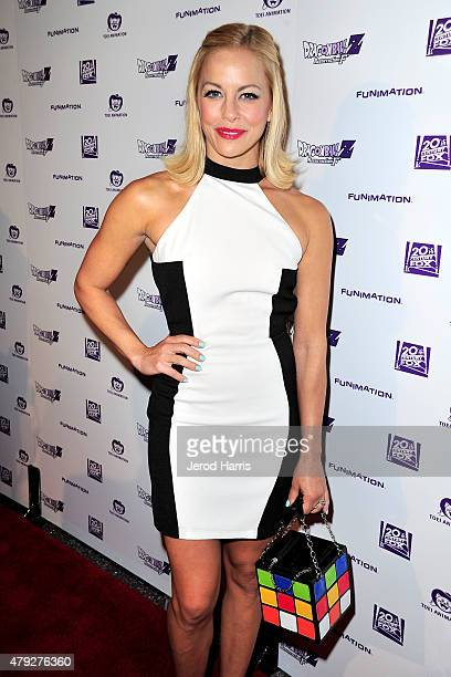 Actress Amy Paffrath attends the premiere of Dragon Ball Z Resurrection 'F' at LA Live on July 2 2015 in Los Angeles California