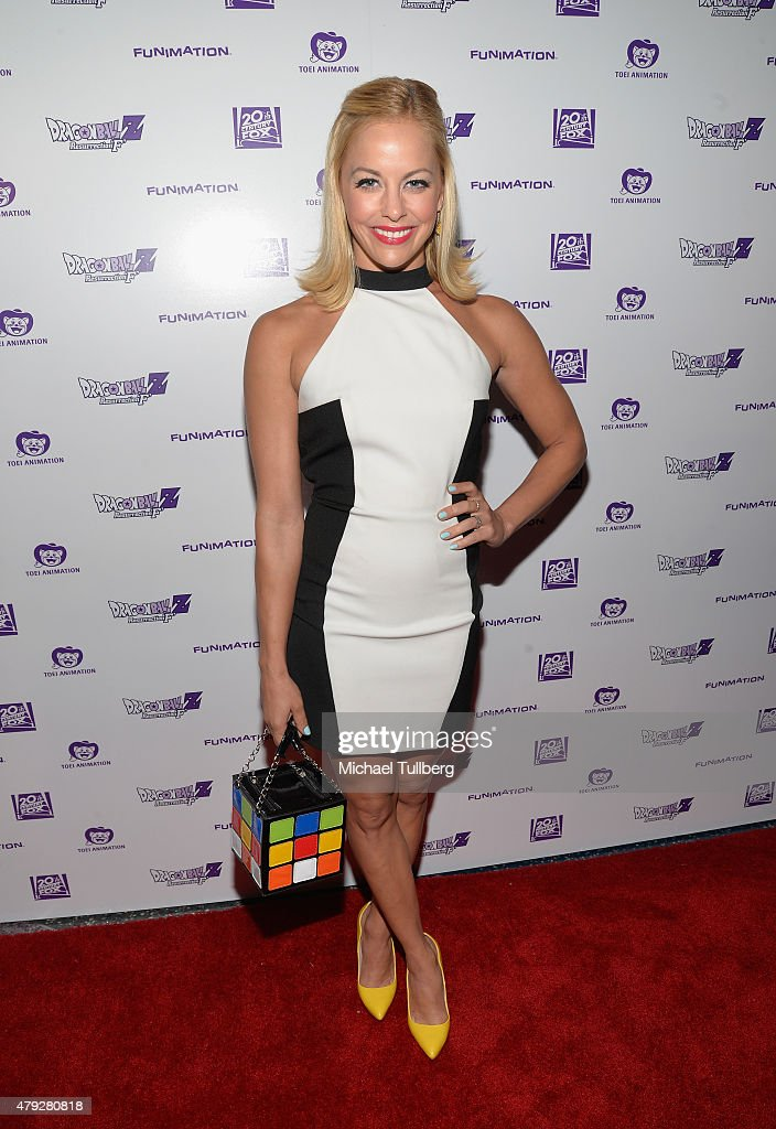 Actress Amy Paffrath attends the US Premiere of 'Dragon Ball Z Resurrection 'F'' at Regal Cinemas LA Live on July 2 2015 in Los Angeles California