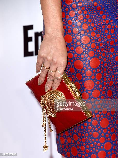 Actress Amy Paffrath clutch detail attends VH1 Big In 2015 With Entertainment Weekly Awards at Pacific Design Center on November 15 2015 in West...