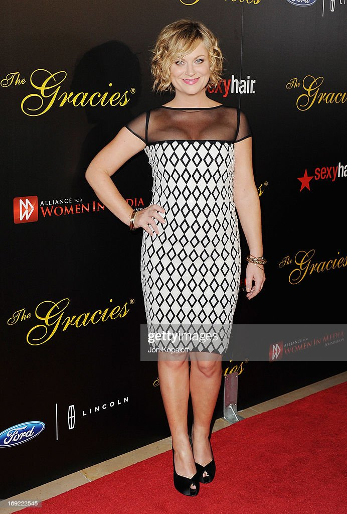 Actress <a gi-track='captionPersonalityLinkClicked' href=/galleries/search?phrase=Amy+Poehler&family=editorial&specificpeople=228430 ng-click='$event.stopPropagation()'>Amy Poehler</a> arrives 38th Annual Gracie Awards Gala at The Beverly Hilton Hotel on May 21, 2013 in Beverly Hills, California.