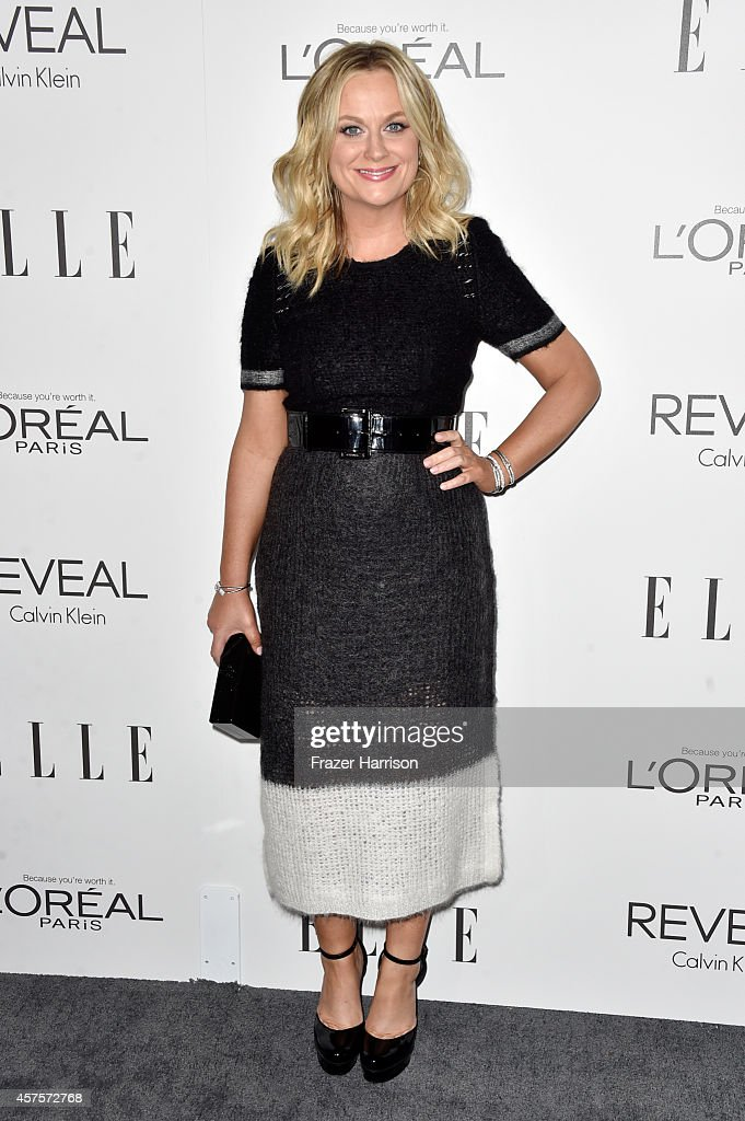 Actress <a gi-track='captionPersonalityLinkClicked' href=/galleries/search?phrase=Amy+Poehler&family=editorial&specificpeople=228430 ng-click='$event.stopPropagation()'>Amy Poehler</a> arrives at ELLE's 21st Annual Women In Hollywood at Four Seasons Hotel Los Angeles at Beverly Hills on October 20, 2014 in Beverly Hills, California.