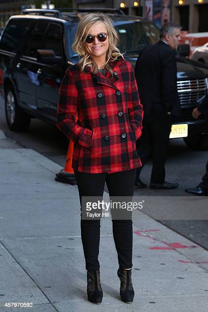 Actress Amy Poehler arrives at 'Late Show with David Letterman' at Ed Sullivan Theater on October 27 2014 in New York City