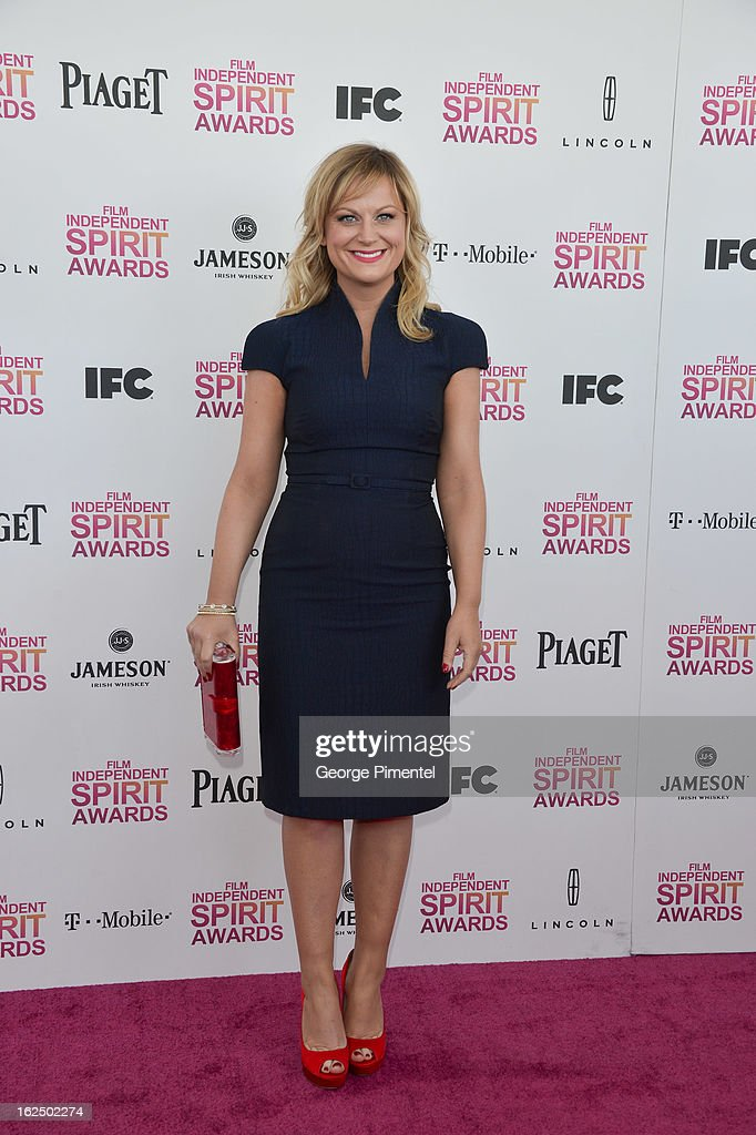 Actress Amy Poehler arrives at the 2013 Film Independent Spirit Awards at Santa Monica Beach on February 23, 2013 in Santa Monica, California on February 23, 2013 in Santa Monica, California.