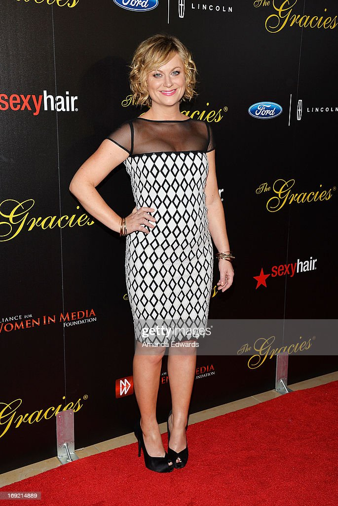 Actress <a gi-track='captionPersonalityLinkClicked' href=/galleries/search?phrase=Amy+Poehler&family=editorial&specificpeople=228430 ng-click='$event.stopPropagation()'>Amy Poehler</a> arrives at the 38th Annual Gracie Awards Gala at The Beverly Hilton Hotel on May 21, 2013 in Beverly Hills, California.