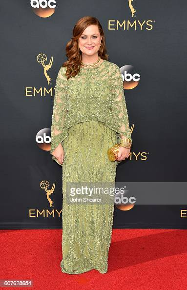 Actress Amy Poehler arrives at the 68th Annual Primetime Emmy Awards at Microsoft Theater on September 18 2016 in Los Angeles California