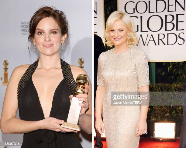 In this composite image a comparison has been made between actresses Tina Fey and Amy Poehler The former castmates of TV's 'Saturday Night Live' will...