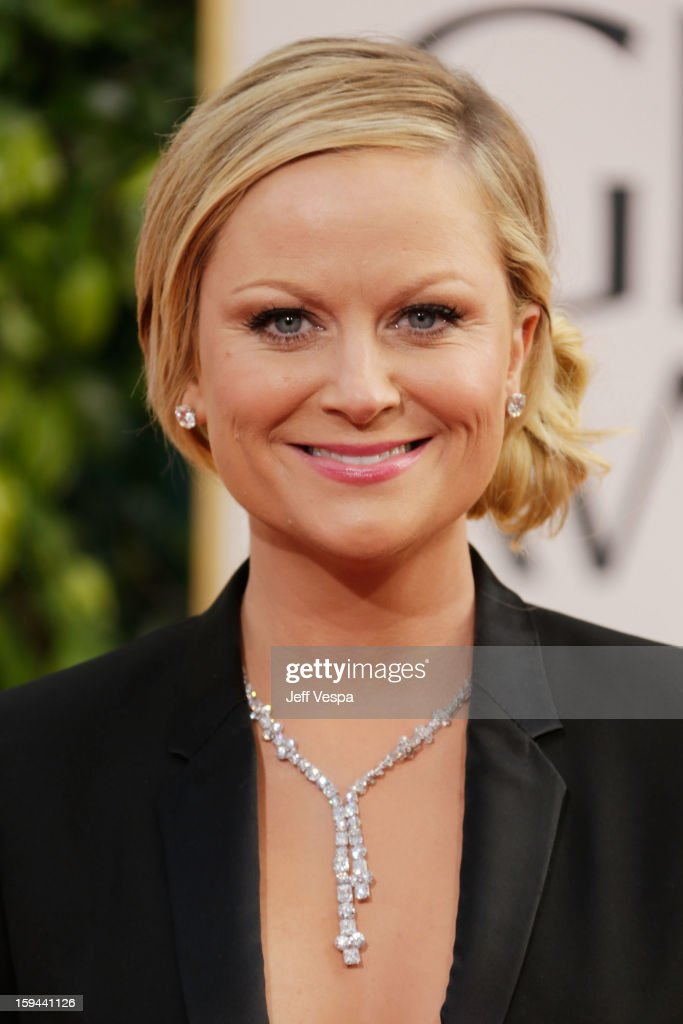 Actress Amy Poehler arrives at the 70th Annual Golden Globe Awards held at The Beverly Hilton Hotel on January 13 2013 in Beverly Hills California