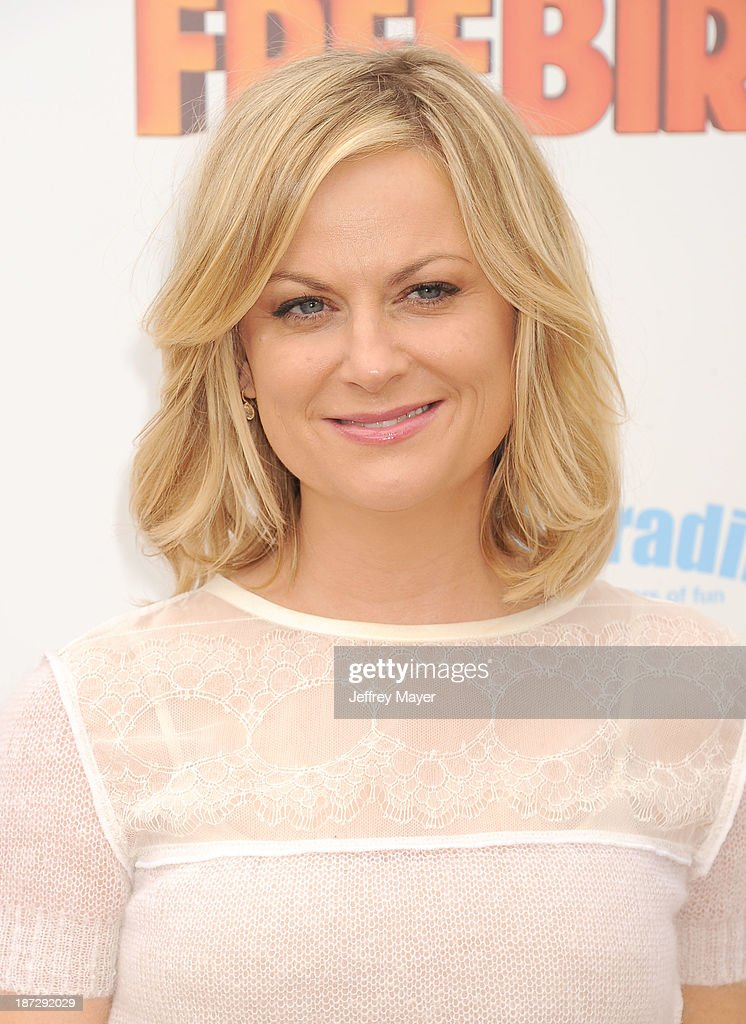 Actress <a gi-track='captionPersonalityLinkClicked' href=/galleries/search?phrase=Amy+Poehler&family=editorial&specificpeople=228430 ng-click='$event.stopPropagation()'>Amy Poehler</a> arrives at the 'Free Birds' - Los Angeles Premiere at Westwood Village Theatre on October 13, 2013 in Westwood, California.
