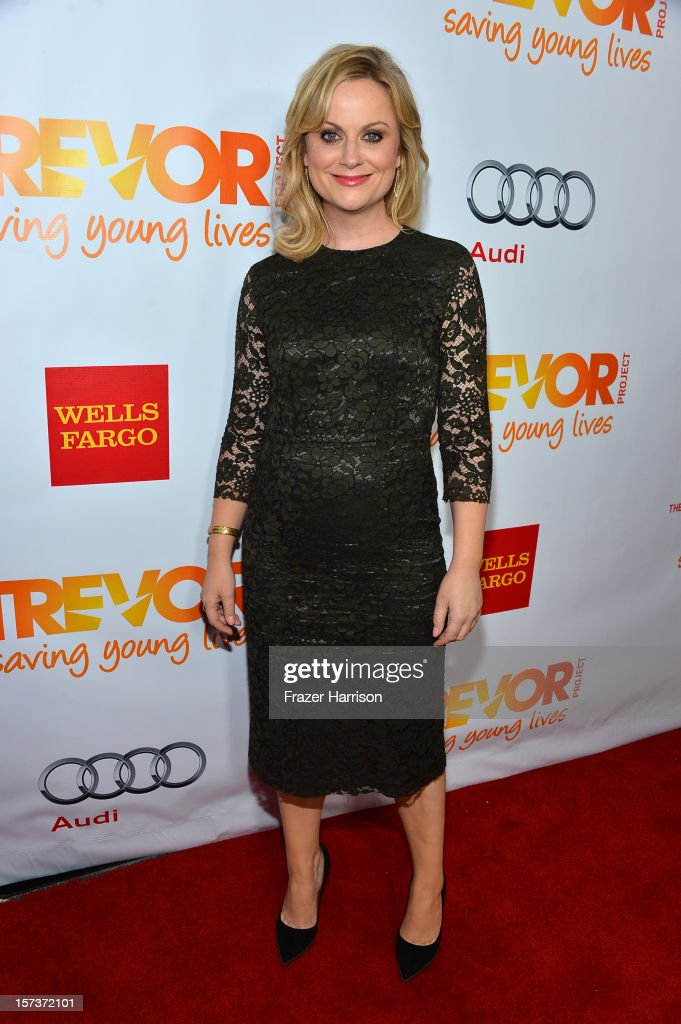 Actress <a gi-track='captionPersonalityLinkClicked' href=/galleries/search?phrase=Amy+Poehler&family=editorial&specificpeople=228430 ng-click='$event.stopPropagation()'>Amy Poehler</a> arrives at 'Trevor Live' honoring Katy Perry and Audi of America for The Trevor Project held at The Hollywood Palladium on December 2, 2012 in Los Angeles, California.