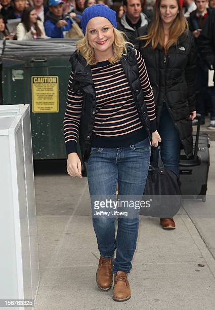 Actress Amy Poehler arrives to 'Late Show with David Letterman' at Ed Sullivan Theater on November 20 2012 in New York City