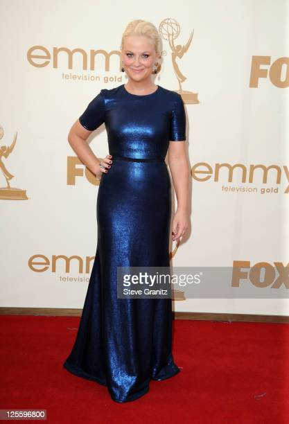 Actress Amy Poehler arrives to the 63rd Primetime Emmy Awards at the Nokia Theatre LA Live on September 18 2011 in Los Angeles United States