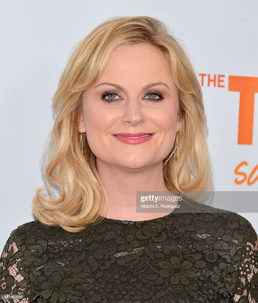 Actress <a gi-track='captionPersonalityLinkClicked' href=/galleries/search?phrase=Amy+Poehler&family=editorial&specificpeople=228430 ng-click='$event.stopPropagation()'>Amy Poehler</a> arrives to The Trevor Project's 'Trevor Live' event honoring singer Katy Perry at the Hollywood Palladium on December 2, 2012 in Hollywood, California.