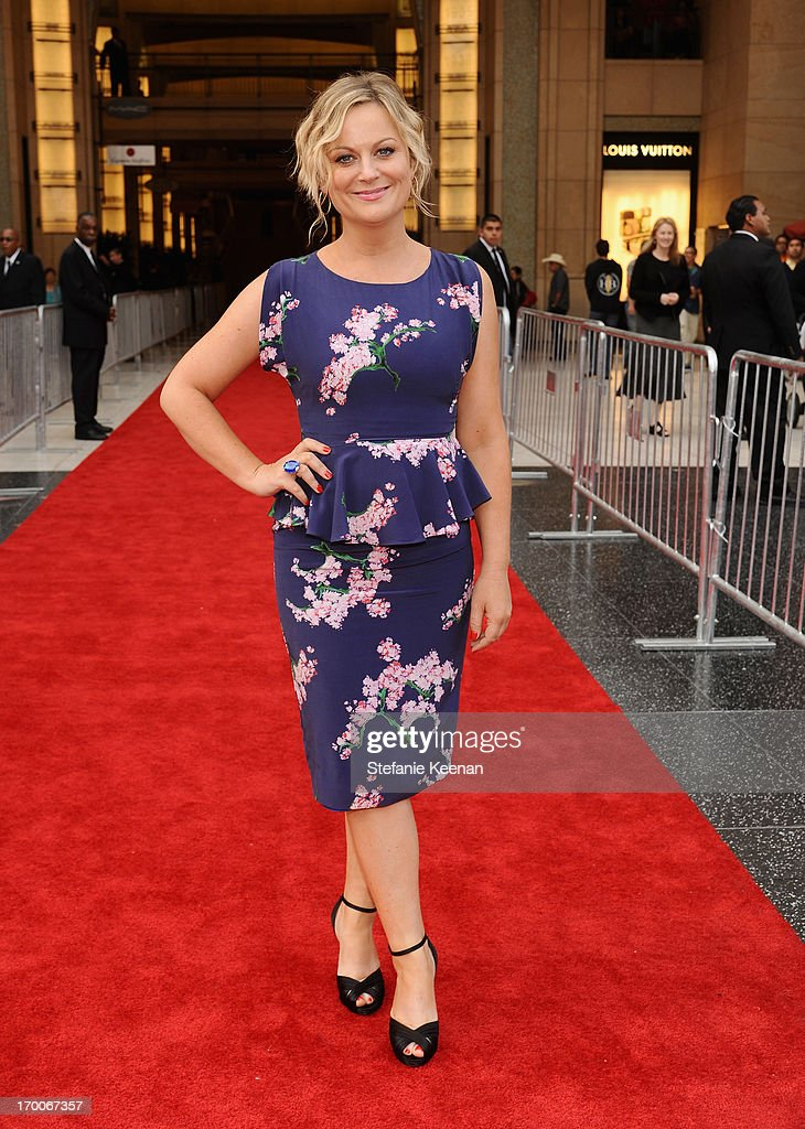 Actress <a gi-track='captionPersonalityLinkClicked' href=/galleries/search?phrase=Amy+Poehler&family=editorial&specificpeople=228430 ng-click='$event.stopPropagation()'>Amy Poehler</a> attends AFI's 41st Life Achievement Award Tribute to Mel Brooks at Dolby Theatre on June 6, 2013 in Hollywood, California. 23647_003_SK_0799.JPG