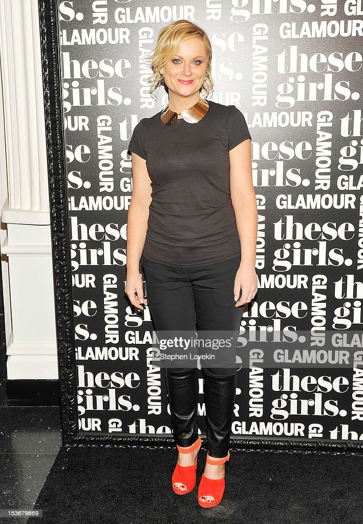 Actress <a gi-track='captionPersonalityLinkClicked' href=/galleries/search?phrase=Amy+Poehler&family=editorial&specificpeople=228430 ng-click='$event.stopPropagation()'>Amy Poehler</a> attends Glamour Presents 'These Girls' at Joe's Pub on October 8, 2012 in New York City.