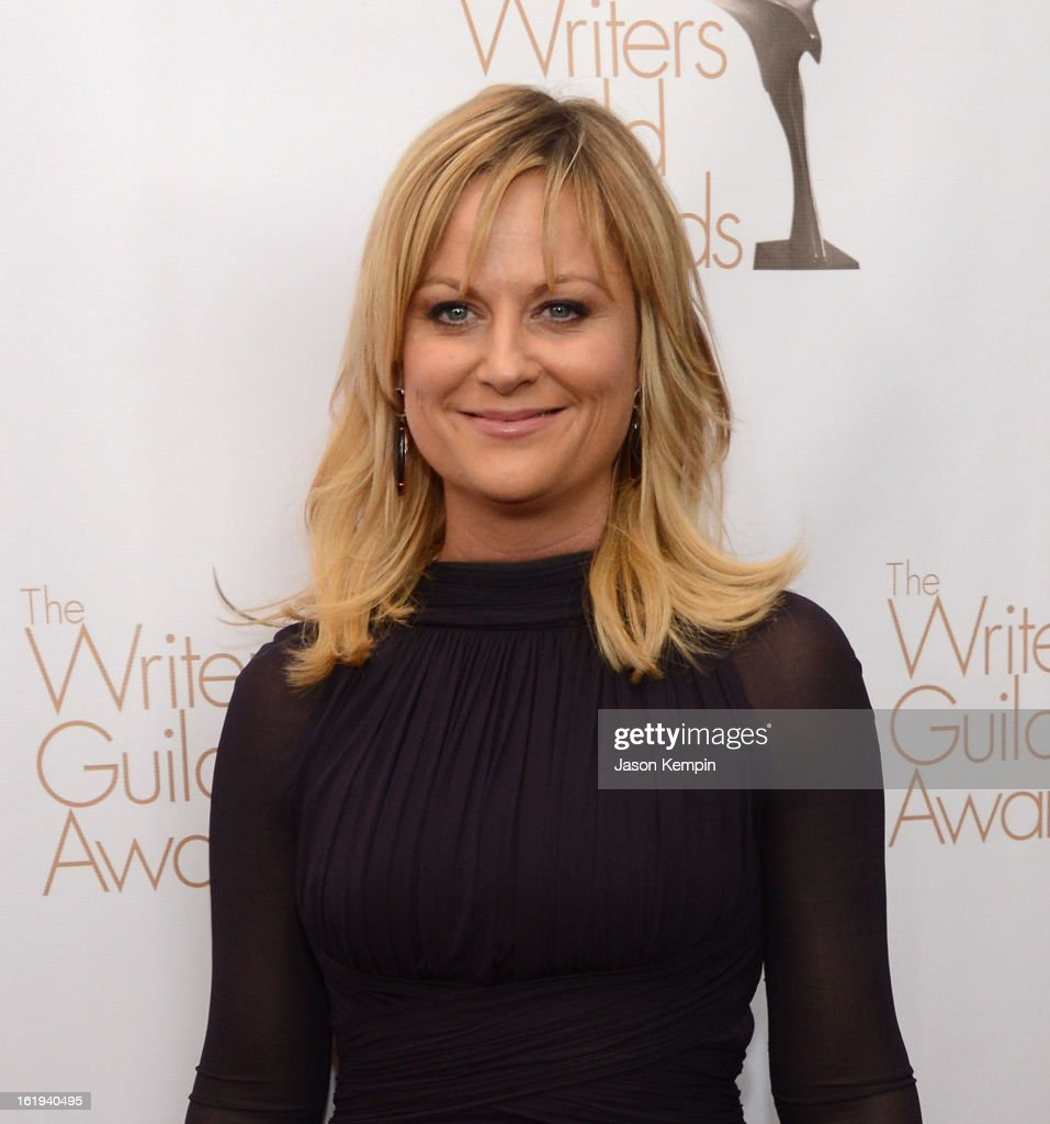 Actress <a gi-track='captionPersonalityLinkClicked' href=/galleries/search?phrase=Amy+Poehler&family=editorial&specificpeople=228430 ng-click='$event.stopPropagation()'>Amy Poehler</a> attends the 2013 WGAw Writers Guild Awards at the JW Marriott Los Angeles at L.A. LIVE on February 17, 2013 in Los Angeles, California.