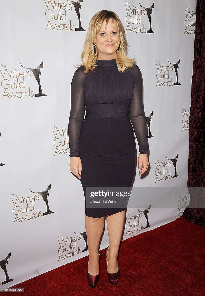 Actress Amy Poehler attends the 2013 Writers Guild Awards at JW Marriott Los Angeles at L.A. LIVE on February 17, 2013 in Los Angeles, California.