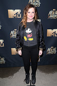 Actress Amy Poehler attends the 2016 MTV Movie Awards at Warner Bros Studios on April 9 2016 in Burbank California MTV Movie Awards airs April 10...