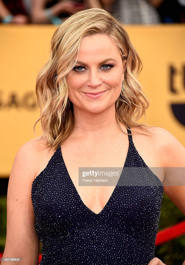Actress <a gi-track='captionPersonalityLinkClicked' href=/galleries/search?phrase=Amy+Poehler&family=editorial&specificpeople=228430 ng-click='$event.stopPropagation()'>Amy Poehler</a> attends the 21st Annual Screen Actors Guild Awards at The Shrine Auditorium on January 25, 2015 in Los Angeles, California.