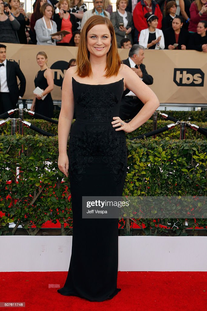 Actress Amy Poehler attends the 22nd Annual Screen Actors Guild Awards at The Shrine Auditorium on January 30 2016 in Los Angeles California