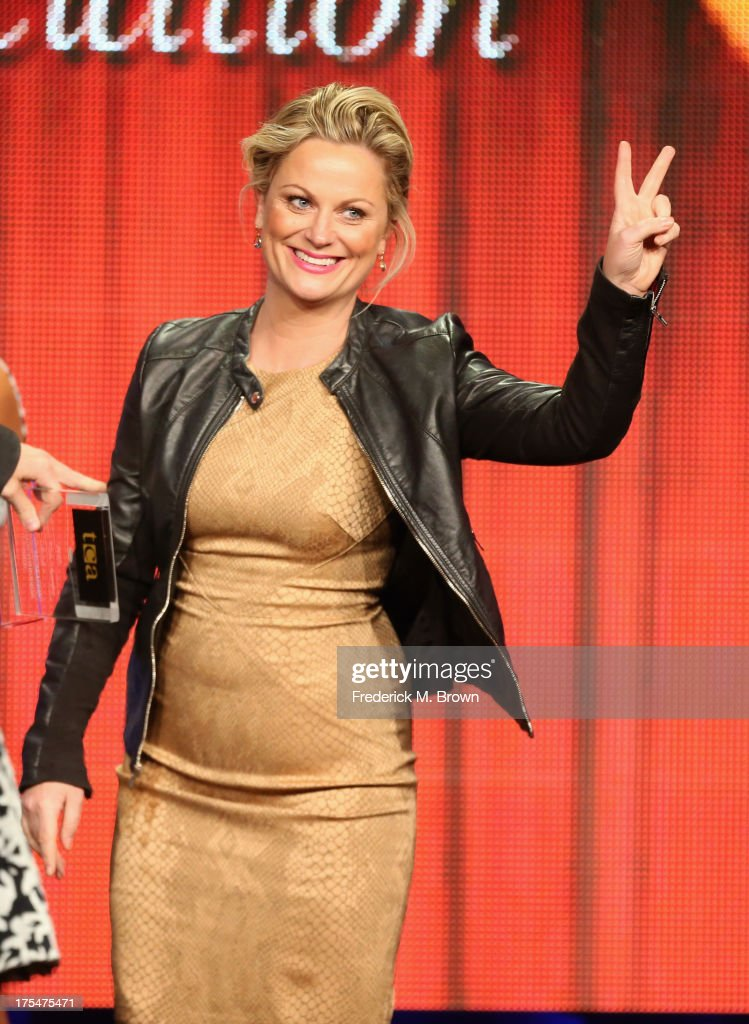 Actress <a gi-track='captionPersonalityLinkClicked' href=/galleries/search?phrase=Amy+Poehler&family=editorial&specificpeople=228430 ng-click='$event.stopPropagation()'>Amy Poehler</a> attends the 29th Annual Television Critics Association Awards at the Beverly Hilton Hotel on August 3, 2013 in Beverly Hills, California.