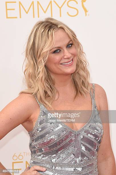 Actress Amy Poehler attends the 66th Annual Primetime Emmy Awards held at Nokia Theatre LA Live on August 25 2014 in Los Angeles California
