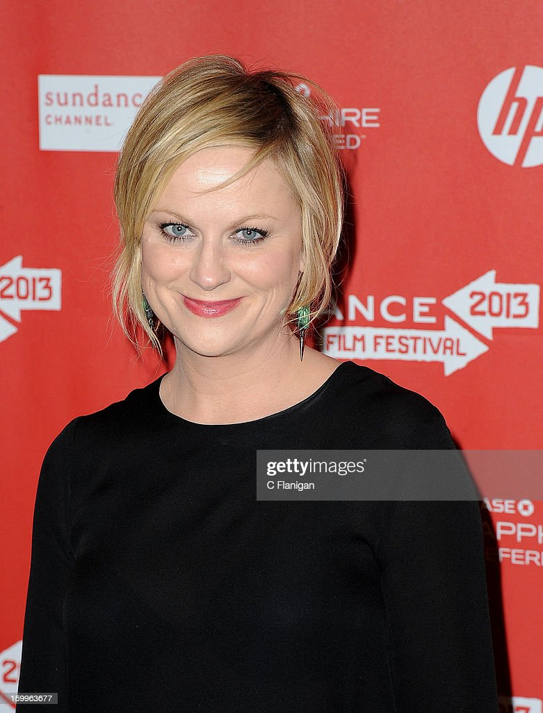 Actress <a gi-track='captionPersonalityLinkClicked' href=/galleries/search?phrase=Amy+Poehler&family=editorial&specificpeople=228430 ng-click='$event.stopPropagation()'>Amy Poehler</a> attends the 'A.C.O.D.' Premiere during the 2013 Sundance Film Festival at Eccles Center Theatre on January 23, 2013 in Park City, Utah.