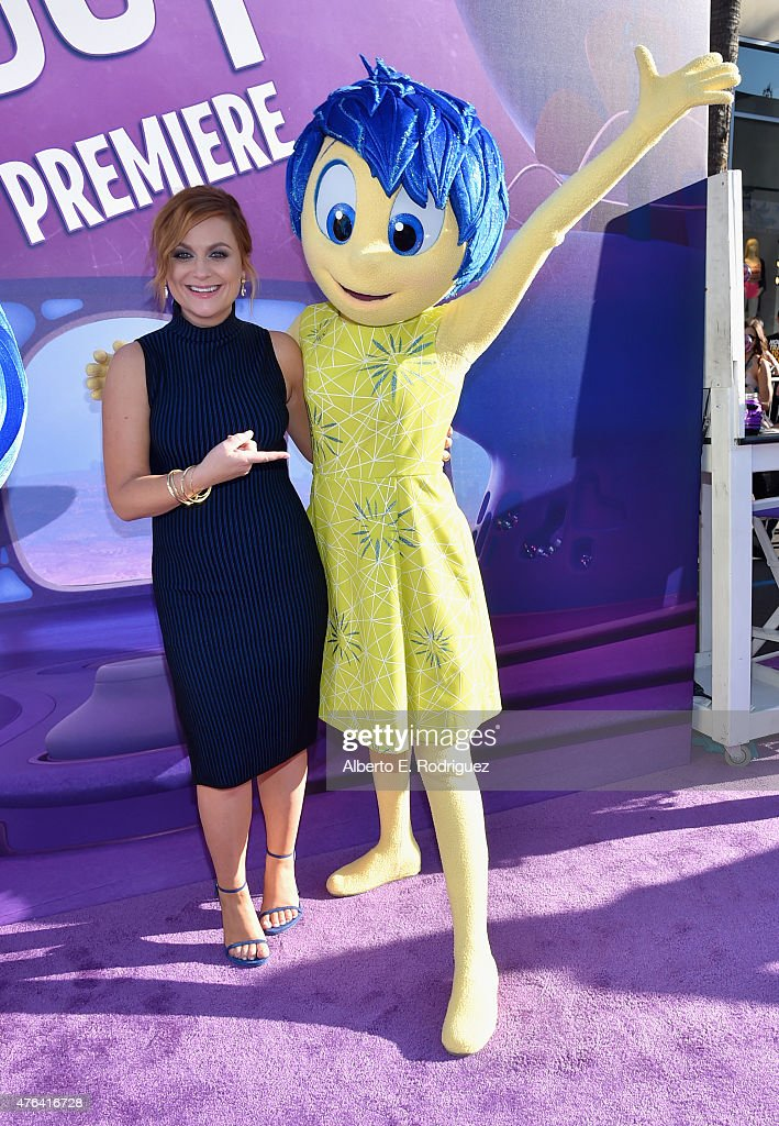 Actress Amy Poehler attends the Los Angeles Premiere and Party for Disney•Pixar's INSIDE OUT at El Capitan Theatre on June 8 2015 in Hollywood...