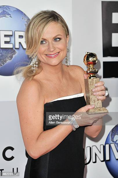 Actress Amy Poehler attends the NBC/Universal's 71st Annual Golden Globes After Party at The Beverly Hilton Hotel on January 12 2014 in Beverly Hills...
