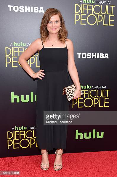 Actress Amy Poehler attends the New York Premiere of 'Difficult People' at the School of Visual Arts Theater on July 30 2015 in New York City