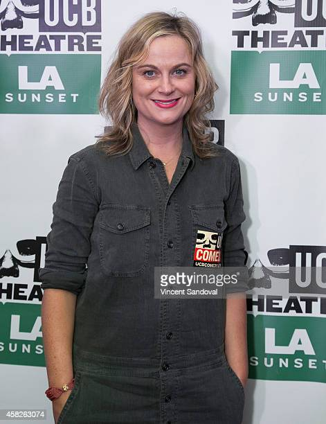 Actress Amy Poehler attends the Upright Citizens Brigade Theatre Sunset grand opening celebration at Upright Citizens Brigade Theatre Sunset on...