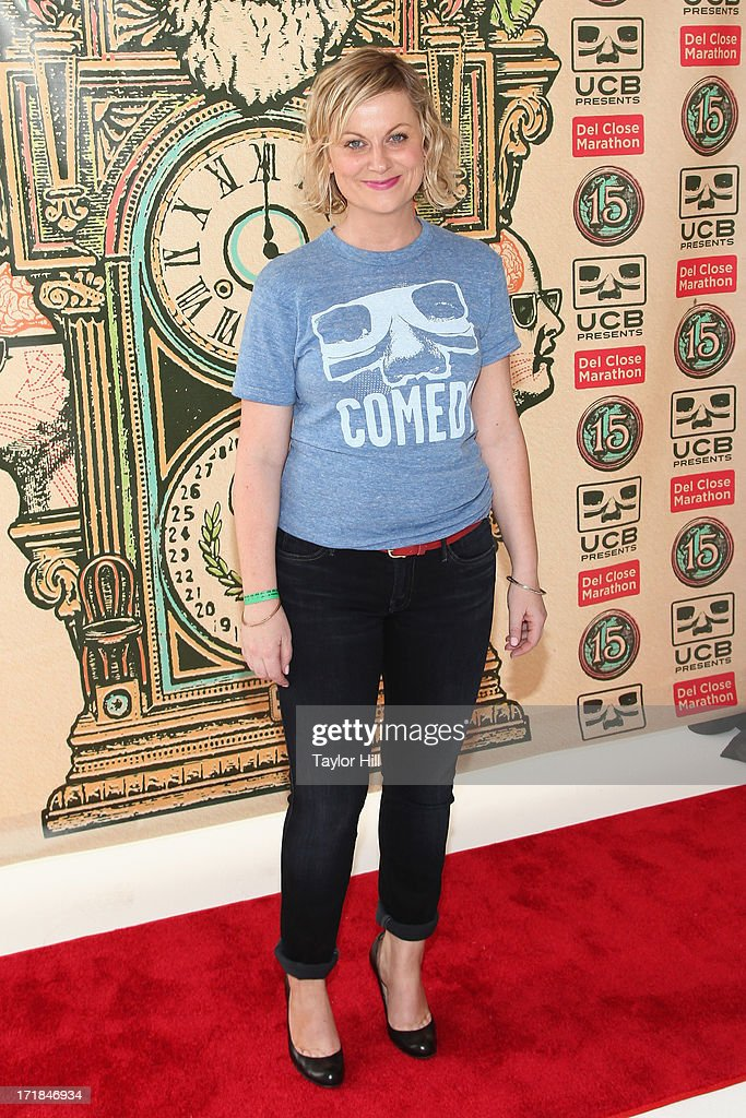 Actress <a gi-track='captionPersonalityLinkClicked' href=/galleries/search?phrase=Amy+Poehler&family=editorial&specificpeople=228430 ng-click='$event.stopPropagation()'>Amy Poehler</a> attends The Upright Citizens Brigade Theatre Presents: The 15th Anniversary Del Close Improv at Upright Citizens Brigade Theatre on June 28, 2013 in New York City.