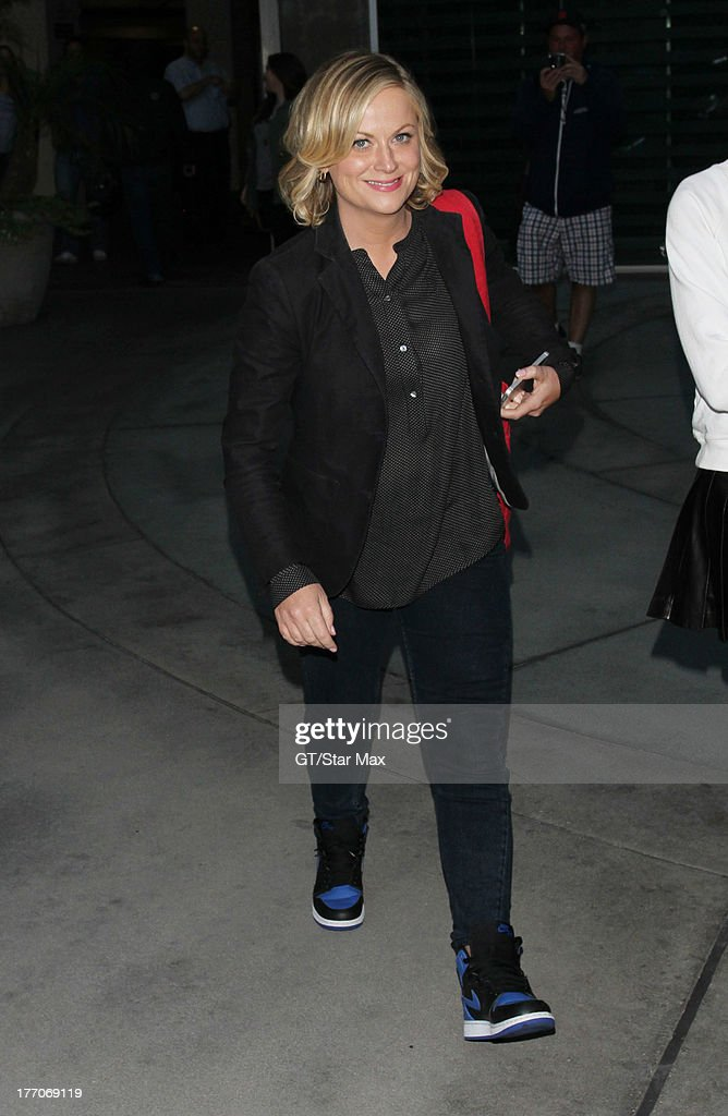 Actress <a gi-track='captionPersonalityLinkClicked' href=/galleries/search?phrase=Amy+Poehler&family=editorial&specificpeople=228430 ng-click='$event.stopPropagation()'>Amy Poehler</a> is seen on August 19, 2013 in Los Angeles, California.