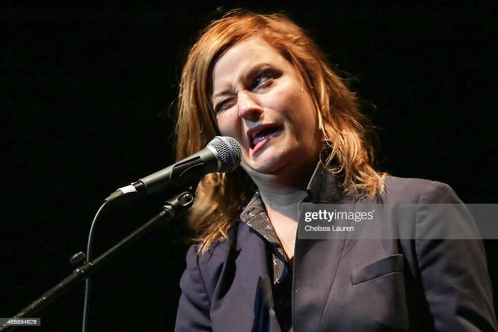 Actress Amy Poehler performs at a celebration of the 60th anniversary of Allen Ginsberg's Howl with music words and funny people at The Ace Hotel...