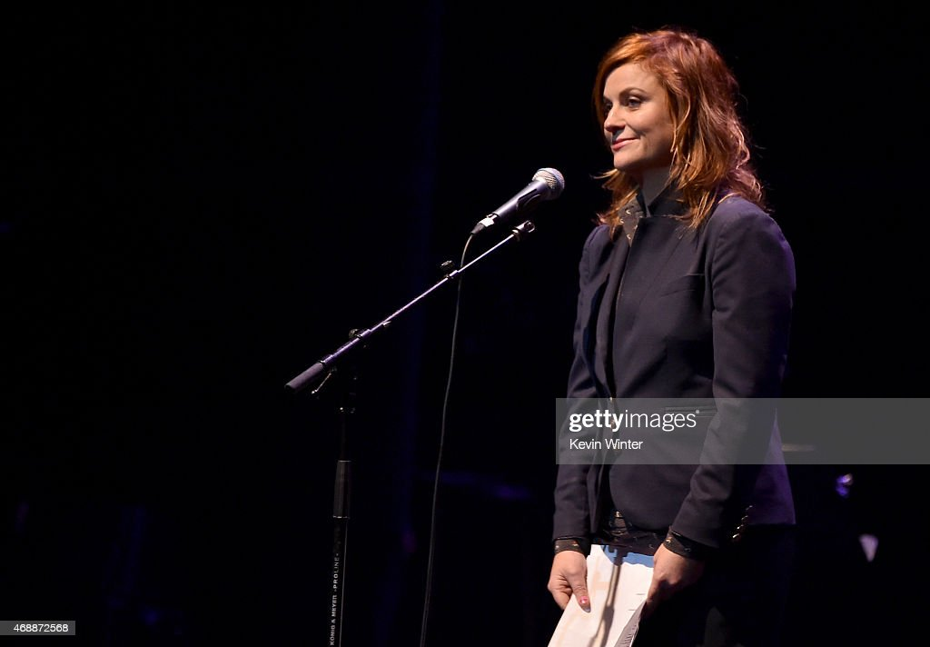 Actress Amy Poehler performs onstage during The David Lynch Foundation's DLF Live Celebration of the 60th Anniversary of Allen Ginsberg's 'HOWL' with...