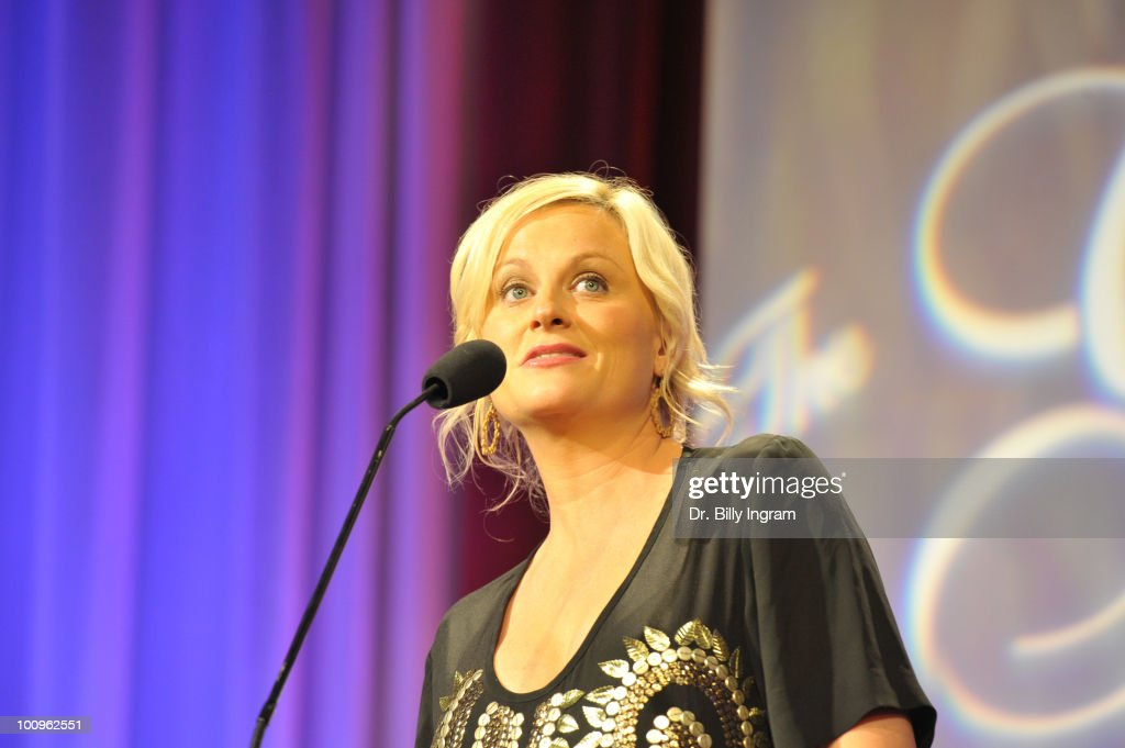 Actress Amy Poehler receives an award at the 35th Annual Gracie Awards Gala at The Beverly Hilton hotel on May 25, 2010 in Beverly Hills, California.