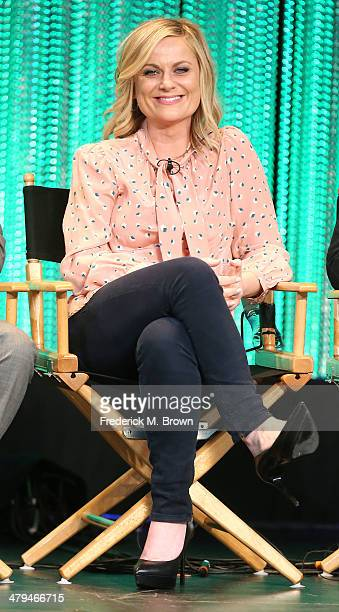 Actress Amy Poehler speaks during The Paley Center for Media's PaleyFest 2014 Honoring 'Parks and Recreation' at the Dolby Theatre on March 18 2014...