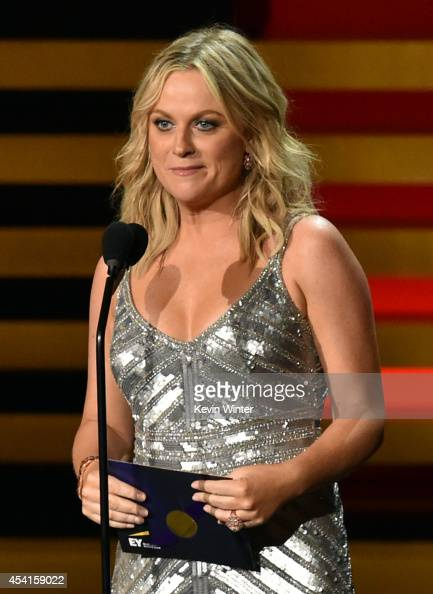 Actress Amy Poehler speaks onstage at the 66th Annual Primetime Emmy Awards held at Nokia Theatre LA Live on August 25 2014 in Los Angeles California